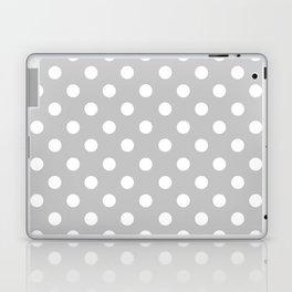 Polka Dots (White & Gray Pattern) Laptop & iPad Skin