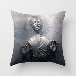 Han Solo Carbonite Throw Pillow