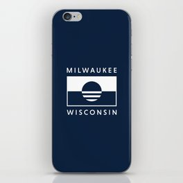 Milwaukee Wisconsin - Navy - People's Flag of Milwaukee iPhone Skin