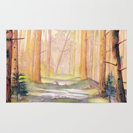 Down The Forest Path Rug