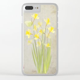 Daffodils and brimstone Clear iPhone Case