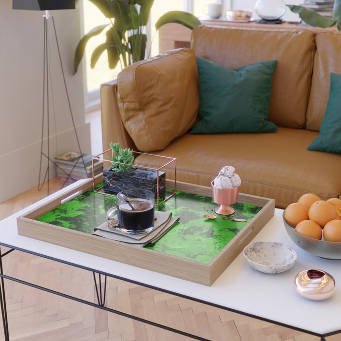 Marble-Green Serving Tray