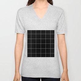 Black Grid /// www.pencilmeinstationery.com Unisex V-Neck