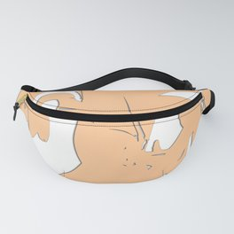 Beautiful Abstract Art in Peach Fanny Pack