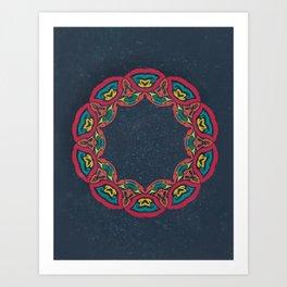 Complex Lai Thai Wreath V2 Art Print