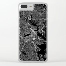 Boston Black Map Clear iPhone Case