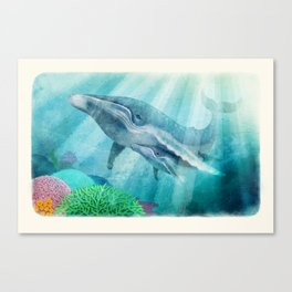 Mother Humpback Whale Canvas Print