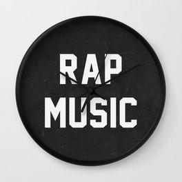 Rap Music Wall Clock