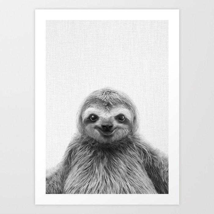 Young Sloth Art Print