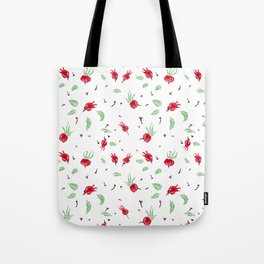 Wild rose Pattern Tote Bag