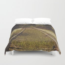 A path that leads to somewhere. Duvet Cover
