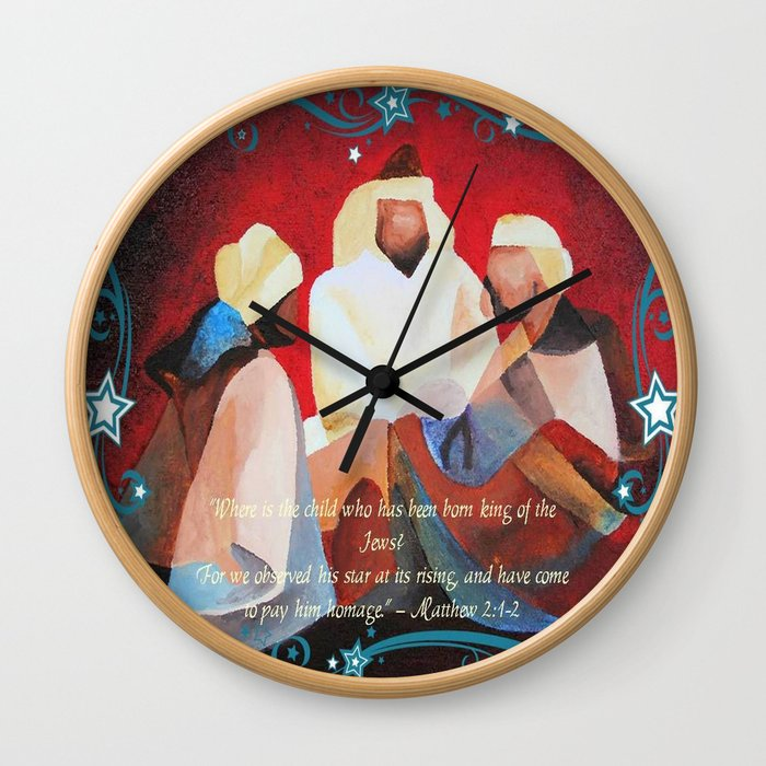 Where Is The Child Who Has Been Born King Of The Jews?  Wall Clock