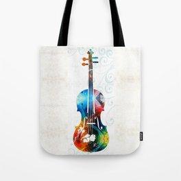 Colorful Violin Art by Sharon Cummings Tote Bag