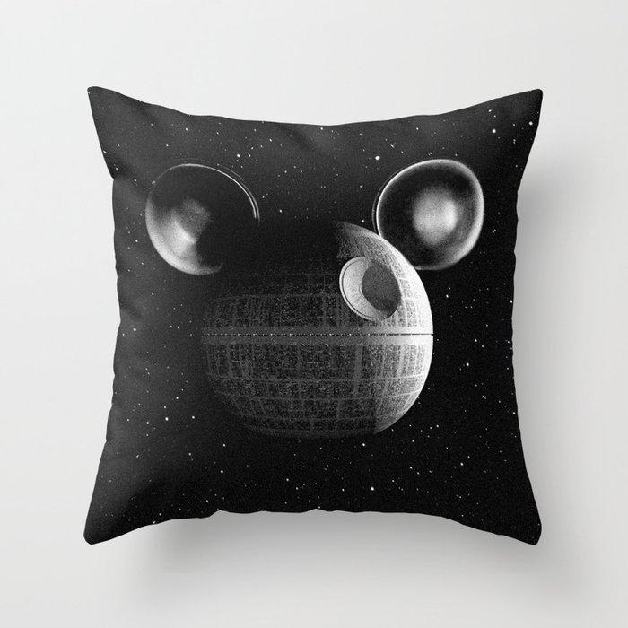that s no moon disney death star throw pillow by shamgar society6