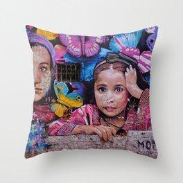 Child of Innocence - Graffiti Throw Pillow