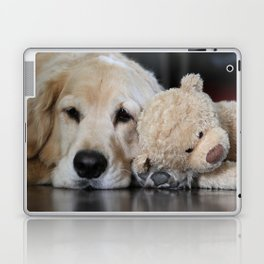 Golden Retriever with Best Friend Laptop & iPad Skin