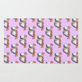 koala eating pizza pattern Rug