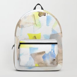 180515 WATERCOLOUR ABSTRACT WP 18 Backpack