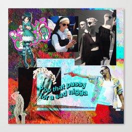 V A P O R Collage Canvas Print