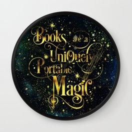 Books Are a Uniquely Portable Magic Wall Clock