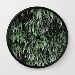 green bamboo Wall Clock