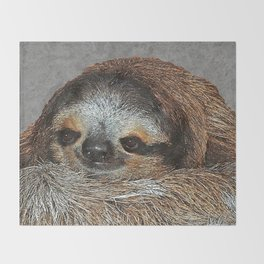 SLOTH LOVE Throw Blanket