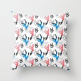 I Love You ILY Throw Pillow