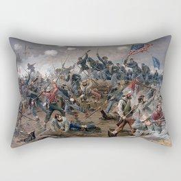 Vintage Lithograph of the Battle of Spotsylvania Rectangular Pillow