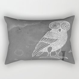 ATHENA'S OWL IN GREY BACKGROUND  Rectangular Pillow