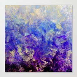 Lilac Sunset - Original Abstract Art by Vinn Wong Canvas Print