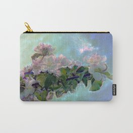 White flower on blue sky Carry-All Pouch