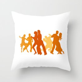 Tango Dancers Illustration  Throw Pillow