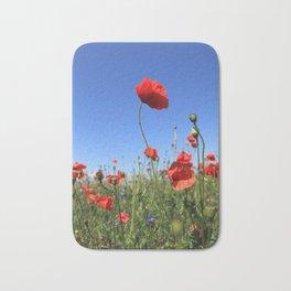 poppy flower no15 Bath Mat