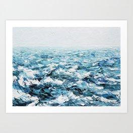 Atlantic Blues Art Print