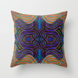 SwankyDoodleSandy Colorblind Repeat Throw Pillow