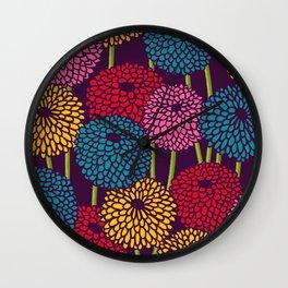 Full of Chrysanth Wall Clock