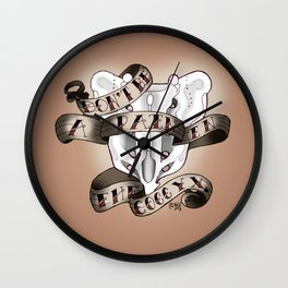 Pain in the Coccyx Wall Clock