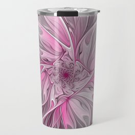 Abstract Pink Floral Dream Travel Mug