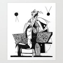 Dejected Art Print