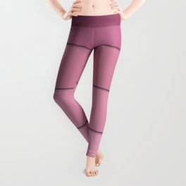 Colorful geometric pattern in shades of pink . Leggings