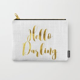 Hello Darling in Gold V1 Carry-All Pouch