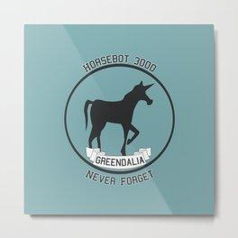 Horsebot 3000 Never Forget Metal Print