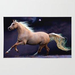 horse galloping Rug