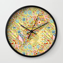 Sunshine Crazy Quilt (printed) Wall Clock