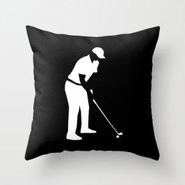 Golf player Throw Pillow