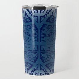 Monochromatic Polynesian Tribal design Travel Mug