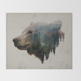 The Pacific Northwest Black Bear Throw Blanket