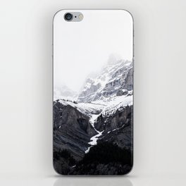 Moody snow capped Mountain Peaks - Nature Photography iPhone Skin