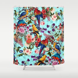 Floral and Birds XI Shower Curtain
