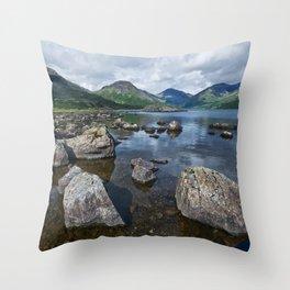 Wastwater English Lake District Throw Pillow